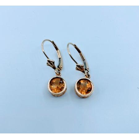 Earrings 1.3ctw Citrine Dangle 14ky 120020047