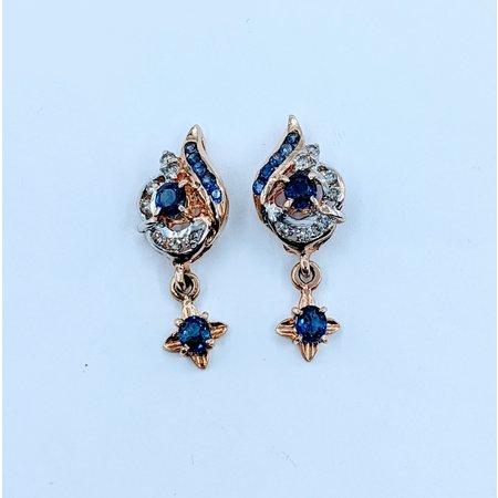 Earrings Sapphire Diamond Dangle 18k 220020105