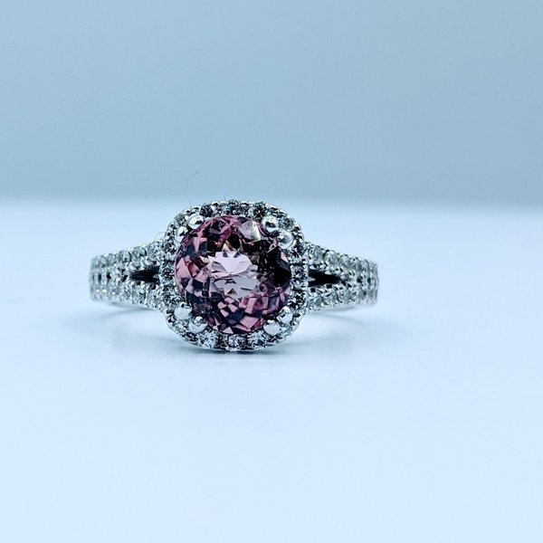 Ring 1.80ct Tourmaline .75ctw Diamond 18kw Sz6 120030058