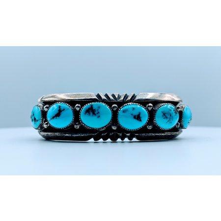 "Bracelet 30ctw Turquoise Cuff ""WB"" 6.5"" 220020110"
