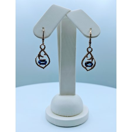 Earrings Tanzanite & Diamond 14ky 219120059