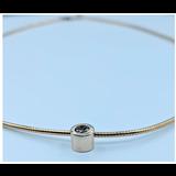 Necklace .25ct Diamond Bezel 14ky 120010057