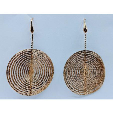 "Earrings Dangle 18ktt 2.5"" Circle 420030841"