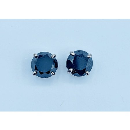 Earring 2.05ctw Black Diamond 14kw