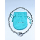 Necklace Tiffany & Co 1837 Sterling Silver Circle Clasp Toggle Necklace 17''       120070108