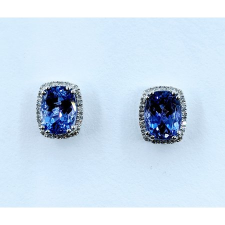 Earrings .15 DI Diamonds 3.06 CT TANZANITE 14KW 120080007