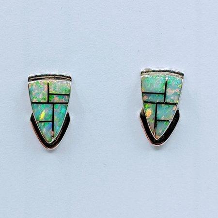Earrings Opalite Inlay SS 220080013