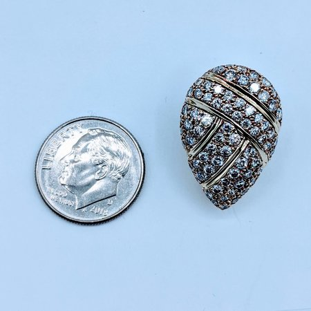Earrings Clip On 1.50ctw Round Diamonds 14ky 220080001