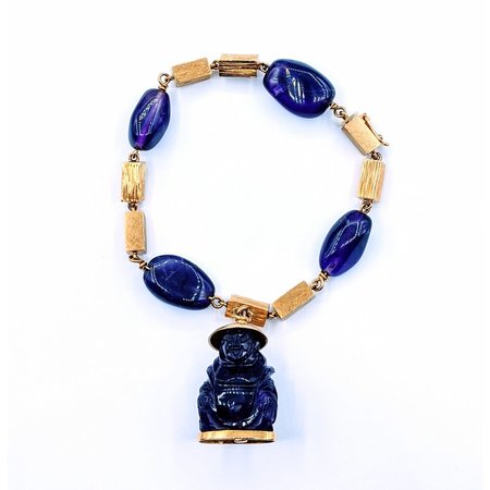 "Bracelet Carved Amethyst Buddah 18ky 8"" 220080002"