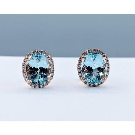 Earrings .30 DI Diamonds 5.35 CT AQUA 14KR 120080006