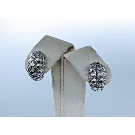 Earrings .12ctw Diamond 14kw Omega Back 120020048