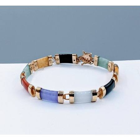 "Bracelet Jade Multi-Color 14ky 8"" 219080029"