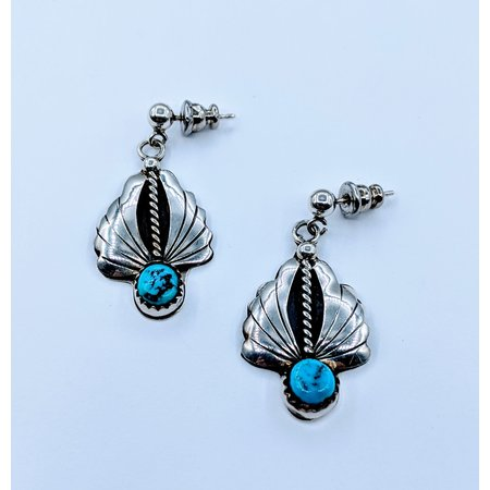Earrings Native American Drop Turquoise SS 220090012