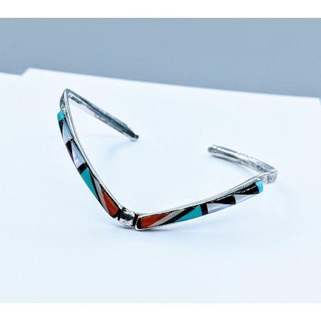 Bracelet Native American Multi Stone Inlay SS 220090009