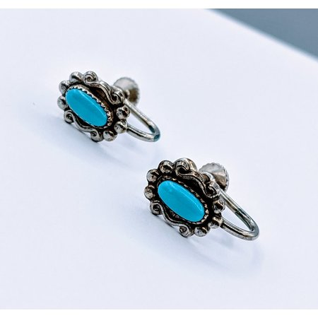 Earrings 7x3.5mm Tourquoise 925 16x8mm 120090075
