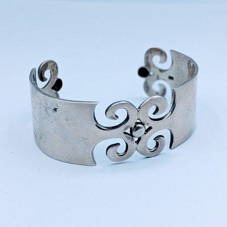 Bracelet Silver Scroll Pattern 120090183