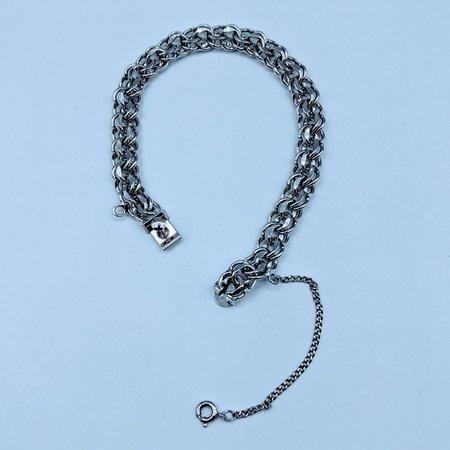 "Bracelet Silver Charm Double Strand 7"" 120090204"