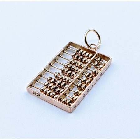 Charm Abacus 14ky 22.5x14.5mm 120090113