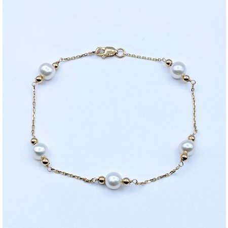 """Bracelet Pearl Station 14ky 7.25"""" 220090033"""