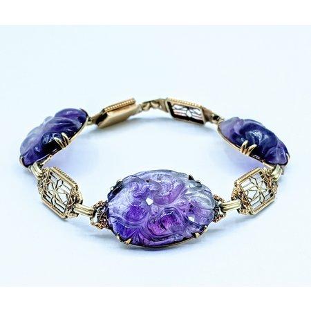 """Bracelet 15ct Filigree Link 14ky 6.5"""" 120090277"""