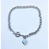 Necklace Tiffany Toggle Heart Pendant 925 16 inches 120090121
