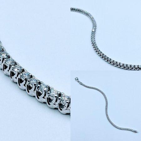 "Bracelet 2.00ctw Round Diamonds 14kw 7"" 220090023"