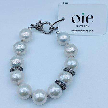 Bracelet Akoya Pearls Diamonds SS 220090056