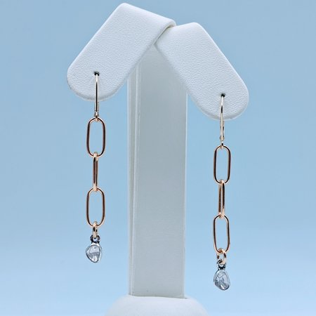 Earrings Rose Cut Diamonds 14k GF 220090058