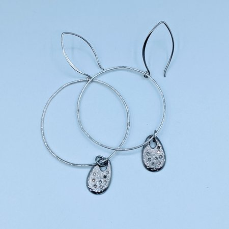 Earrings Charm Hoops Diamonds SS 220090060