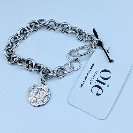 Bracelet Antique Joan of Arc Medal SS 220090055
