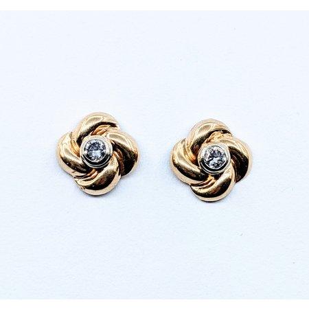Earrings .15ctw Diamond 14ky 10.5x10.5mm 120090289