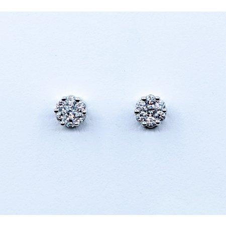 Earrings .50ctw Diamond 14kw 5.5x5.5mm 120090329
