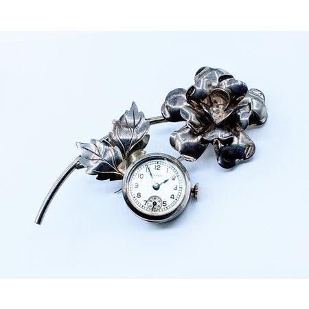 Brooch Rensie Wind Up Watch Silver 220100001