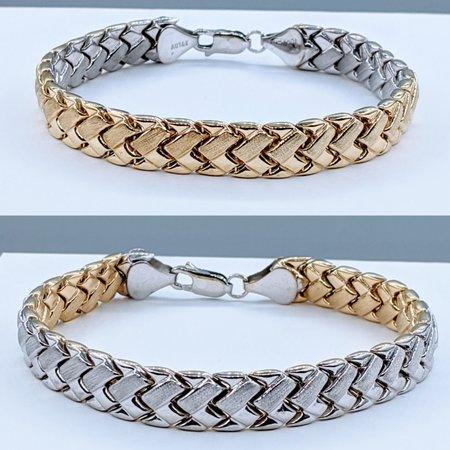 """Bracelet 7"""" Woven 14ktt 120090300"""