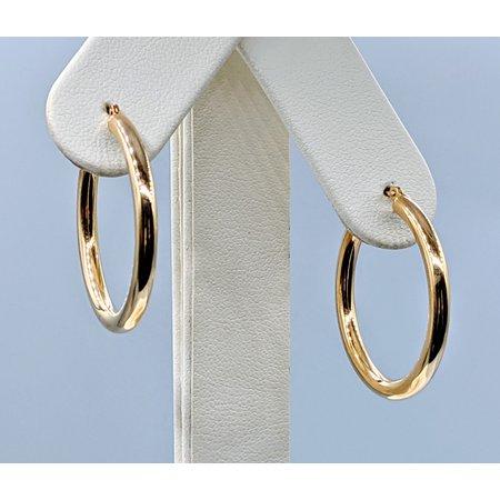 """Earrings 1"""" Hoop 14ky 120090298"""