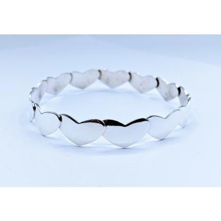Bracelet Arne Johanson Hearts Silver 10mm Wide 220100005