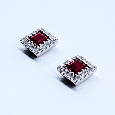 Earrings 14KW .20 DI .86 CT RUBY 119110079