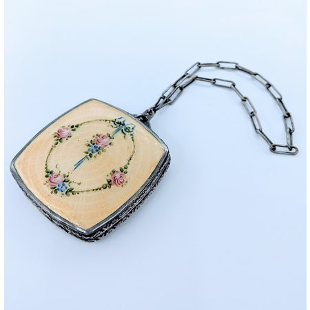 Compact Vintage 1920's Enameled SS 220100043