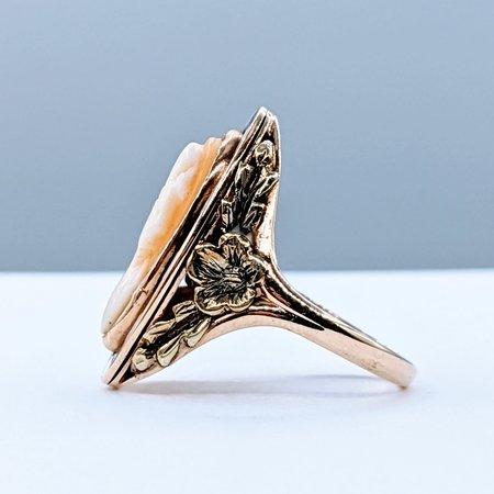 Ring Cameo & Enamel Victorian 10ky Sz5.5 220100044