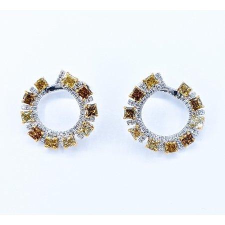 Earrings Fancy Color Diamonds 3.72ctw 14k 220100019