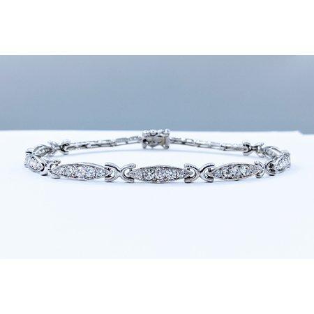 """Bracelet Vintage Diamonds .75ctw 14kw 8.5"""" 120100002"""