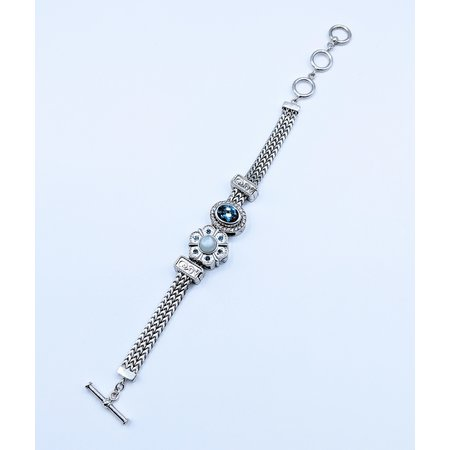 """Bracelet Lori Bonn Charm Silver 6.5-8"""" 220100060"""