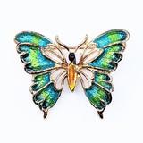 Pendant Enamel Butterfly 14ky 30x25mm 120090401