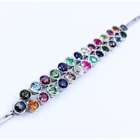"Bracelet .55ctw Diamond 4.4ctw Multi-Gemstone Platinum 7"" 120090383"