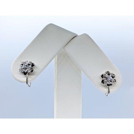 Earrings .25ctw Diamond 14kw 14x8.5mm 120090402