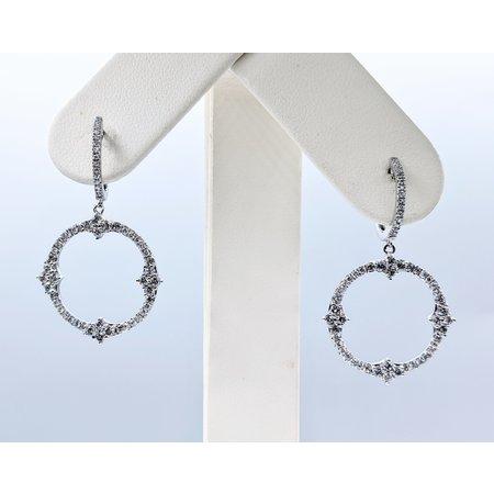 Earrings Diamond Dangle .75ctw 14kw 40x21.50mm 120110015