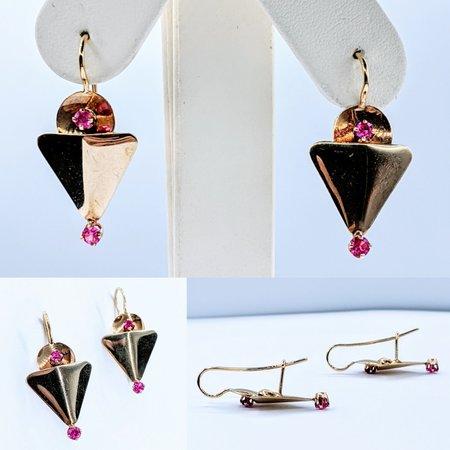 Earrings Victorian Ruby .50ctw14ky 220110011