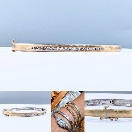 Bracelet Bangle .25ctw Round Diamonds 14ky 220110042