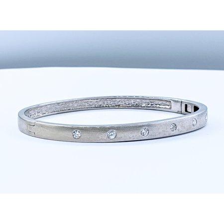Bracelet Bangle .50ctw Round Diamonds 14kw 220110041