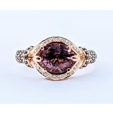 Ring 9x7 Tourmaline .50ctw Diamonds LeVian 14kr Sz9